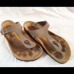 Mocha Birkenstock Gizeh Sandal Size 39